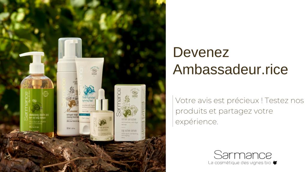 Devenez ambassadeur Sarmance